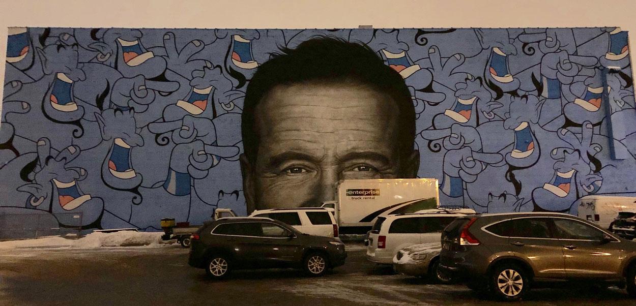 Robin Williams happy