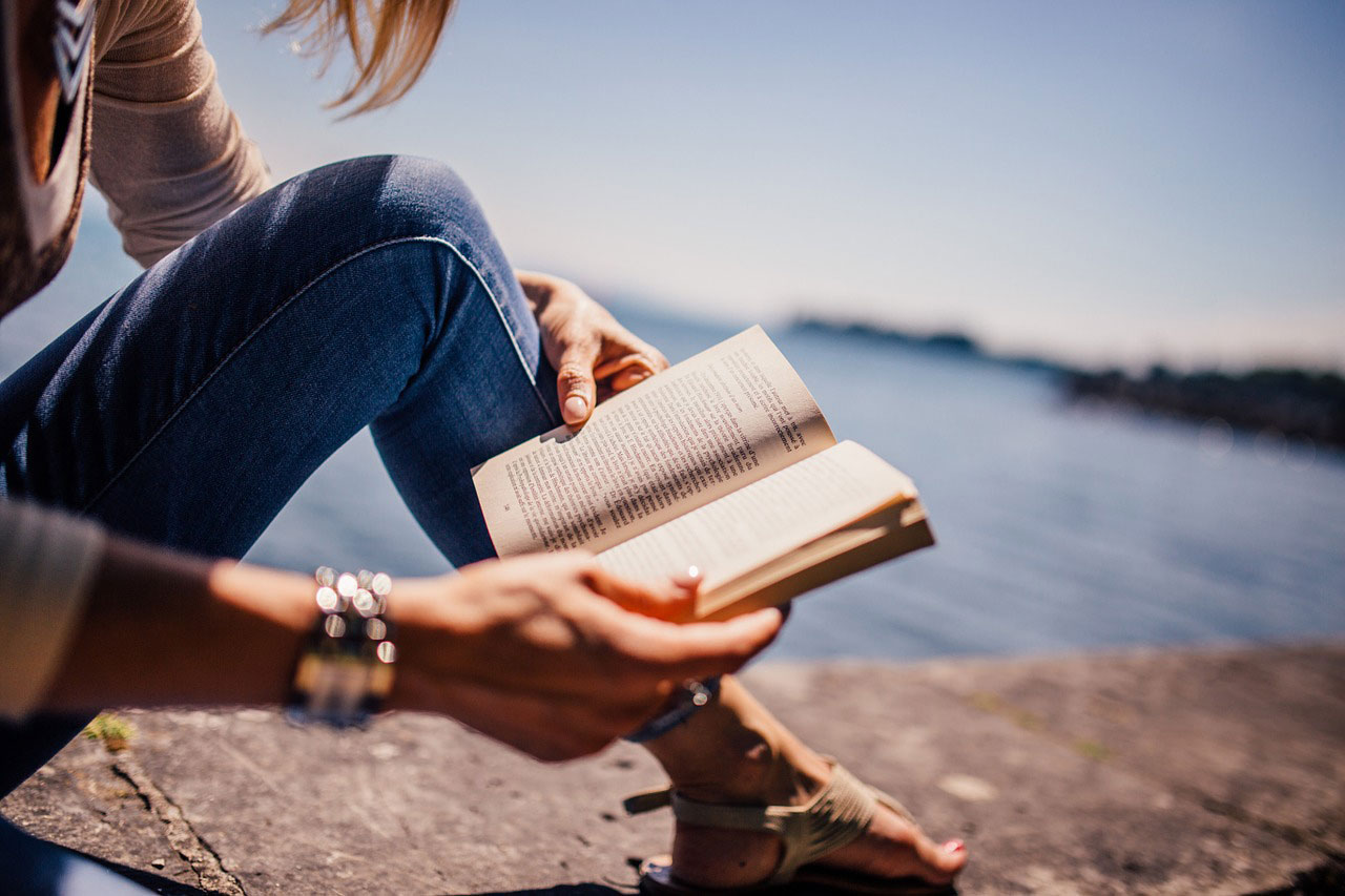 exercise is good for depression as it improves your learning ability. picture of a woman reading