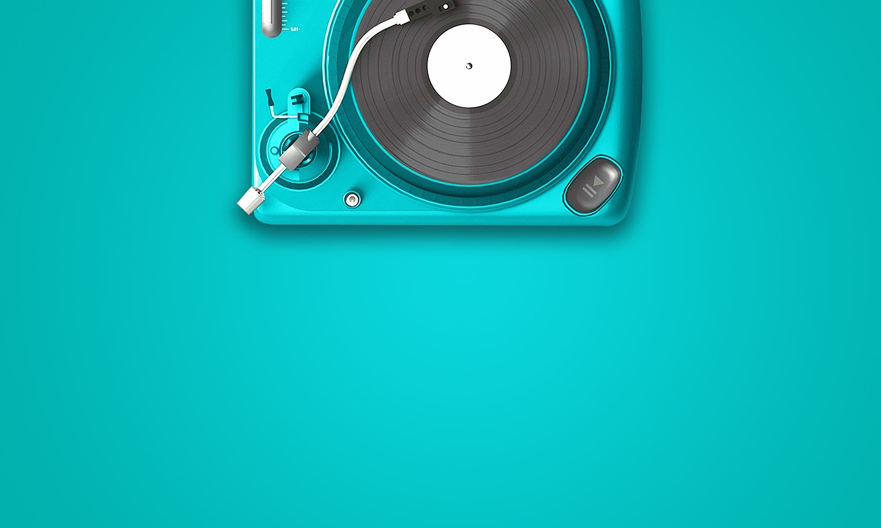 can music ease anxiety? A picture of a music turntable