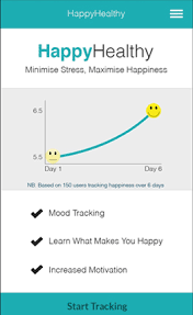 Happy Healthy App is one of the apps that help overcome depression and improve mental wellbeing