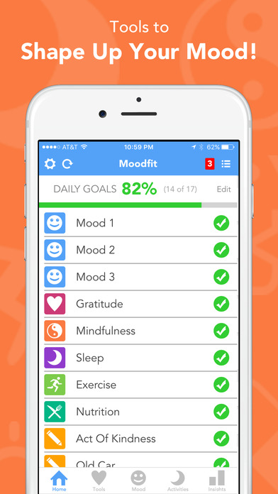 moodfit-app is one of the apps that help overcome depression