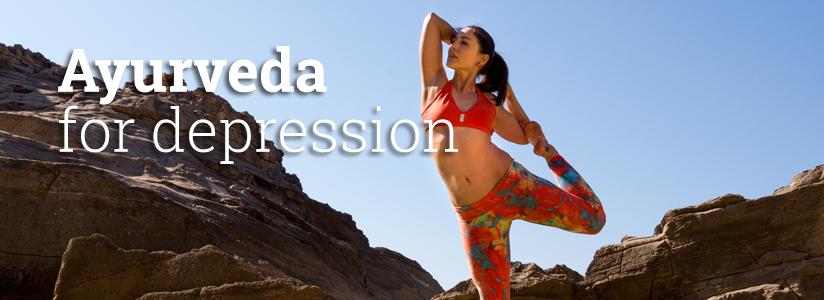 Ayurveda for depression, a woman doing yoga